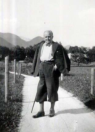 Bortkiewicz in the Austrian mountains (1947)