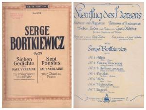 bortkiewicz songbooks